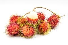 Rambutan, Thai fruit. Rambutan, Negrito, Semang, sweet Thai fruit . isolated on white background Stock Images