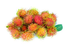 Rambutan. Thailand rambutan fruit on white background Royalty Free Stock Image