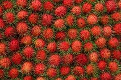 Rambutan in Thailand-Markt, süße köstliche Frucht stockfotografie