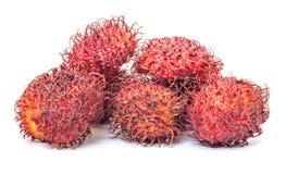Rambutan, Tropical Fruit. On white background Stock Photography