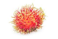 Rambutan tropical fruit. On white background Royalty Free Stock Photos