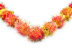 Rambutan tropical fruit Stock Photo