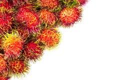 Rambutan tropical fruit. On white background Stock Photography
