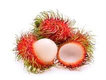 Rambutan, tropical fruit  on the white Stock Photography