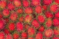 Rambutan tropical fruits. Stock Photo