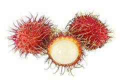 Rambutan - Tropical Fruits Rambutan. Fresh rambutan sweet delicious fruit of Thailand, Rambutan fruit Royalty Free Stock Photos
