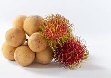 Rambutan und Longkong sind südlicher asiatischer Aromabonbon der Frucht Lizenzfreies Stockfoto