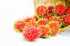 Rambutan. On white background royalty free stock image