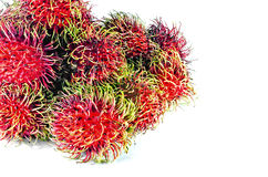 Rambutan. On white background stock photography