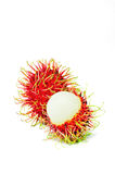 Rambutan. On white background stock photo