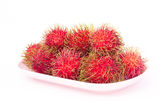 Rambutan. Rambutan on white background Royalty Free Stock Image