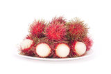 Rambutan. Rambutan on white background Stock Photos