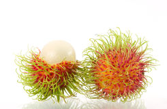 Rambutan on white background. Rambutan on the white background Royalty Free Stock Image