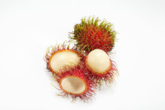 Rambutan. On white background Stock Photos