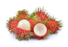 Rambutan on white background. Rambutan on a white background Stock Images