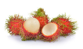 Rambutan on white background Royalty Free Stock Images