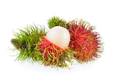 Rambutan. On a white background Stock Photo