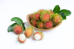 Rambutan on white background. Asian fruit rambutan on white background Stock Photo