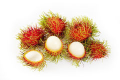 Rambutan on white background. Fresh rambutan on white background Royalty Free Stock Photography