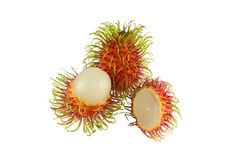 Rambutan on white background. Fresh rambutan on white background Stock Images