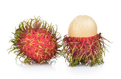 Rambutan on white background. Fresh rambutan on white background Royalty Free Stock Images