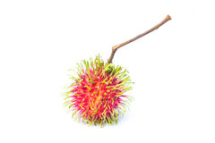 Rambutan on white background. One rambutan on white background Stock Images