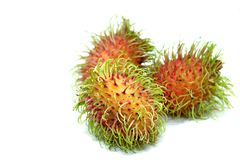 Rambutan on white background. With selective focus Stock Photo