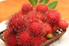 Rambutanfrüchte Lizenzfreies Stockfoto