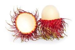 Rambutanfrucht getrennt stockbild