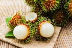 Rambutanfrukt royaltyfri bild
