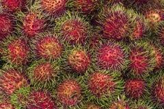 Rambutanfrukter arkivfoto