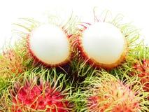 Rambutans. Close up rambutan, tropical fruit on white background Stock Photography