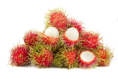 Rambutans fruit isolated on white Stock Photo