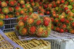 Rambutans fruit. In market,Nasan,Surat Thani,thailand Royalty Free Stock Image