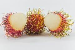Rambutans, fruto tailandês delicioso Fotografia de Stock