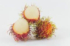 Rambutans, fruto tailandês delicioso Fotografia de Stock Royalty Free