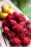 Rambutans and mango Royalty Free Stock Photography