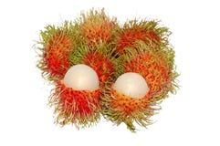 Rambutans oder haarige Früchte Lizenzfreies Stockbild