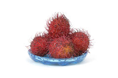 Rambutans on a plate Royalty Free Stock Photo