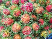 Rambutans. Red rambutans thai sweet fruits Stock Photo