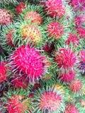 Rambutans. Red rambutans tropical fruits Royalty Free Stock Photos