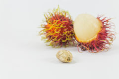 Rambutans seed, Thai fruit delicious. Royalty Free Stock Photo
