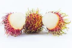 Rambutans, Thais heerlijk fruit Stock Foto's
