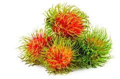 Rambutans. On a white background Stock Photography