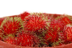 Rambutans in white background Royalty Free Stock Photos