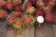 Rambutansfrukt Fotografering för Bildbyråer