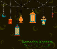 Ramdan Kareem greetings background Stock Images