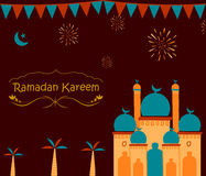 Ramdan Kareem greetings background Stock Image