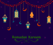 Ramdan Kareem greetings background Royalty Free Stock Photo