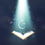Ramdan Kareem. Quran. Crescent Moon. Star. Stock Photo